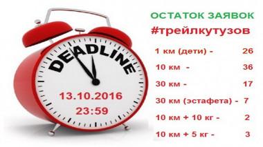 До закрытия регистрации на #трейлкутузов осталось 3 дня